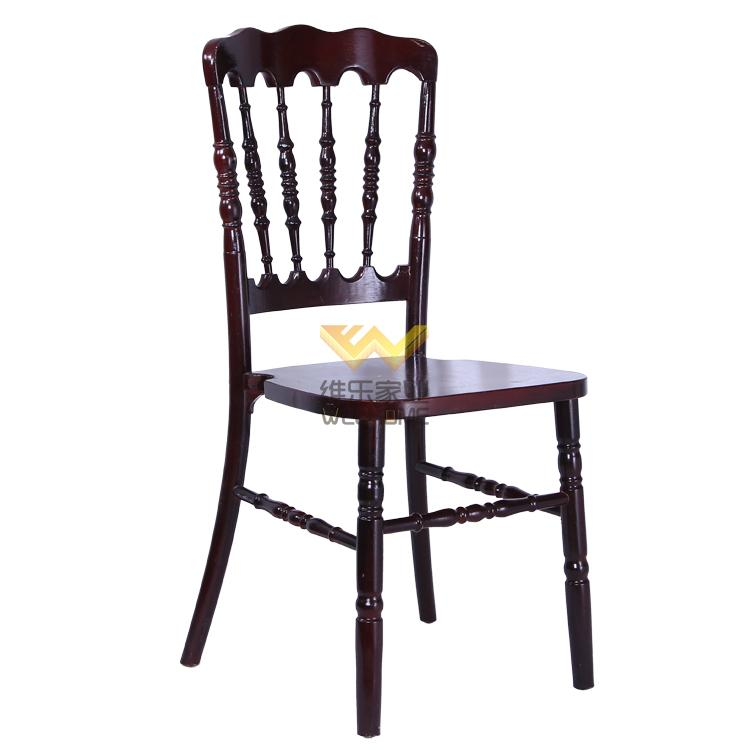 high quality solid beech wood napoleon chair for rental