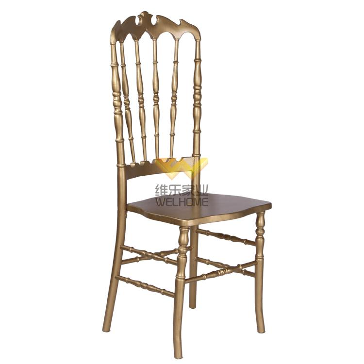 Highback Gold solid wood Napoleon chair for wedding/event