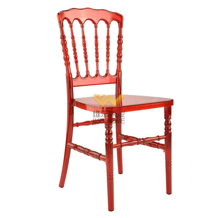 Red acrylic Napoleon chair for wedding/events