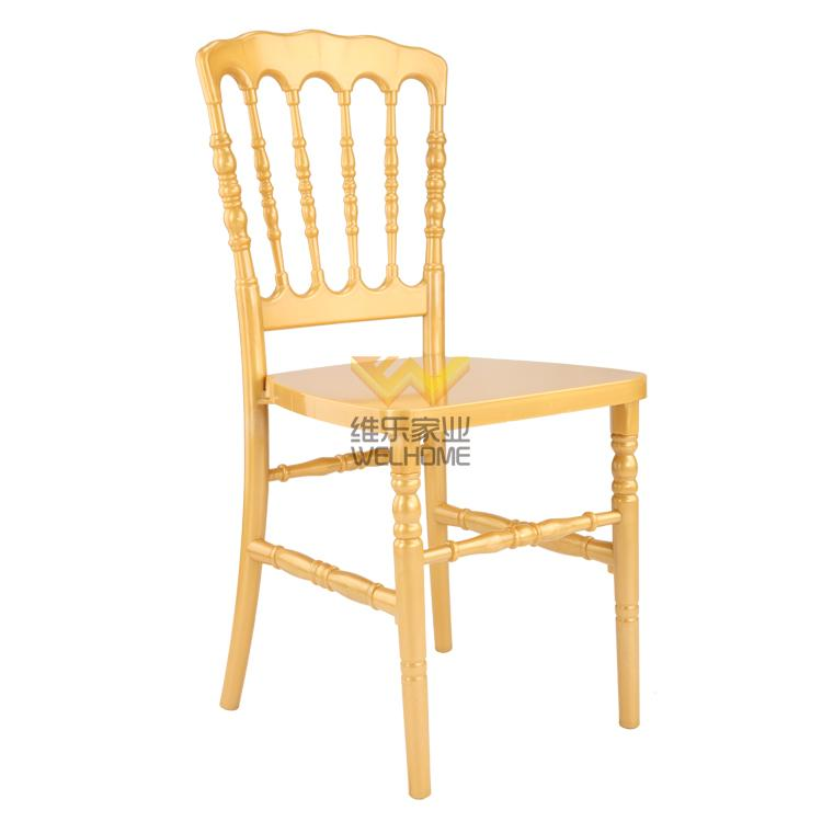 Yellow acrylic Napoleon Chair for wedding/event