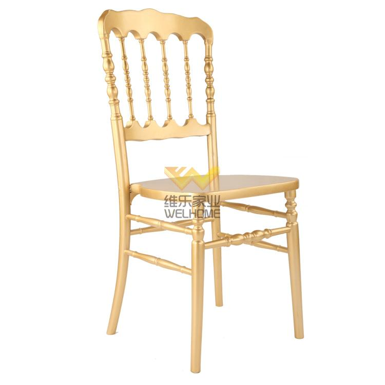 cheap solid wood gold color napoleon chair for event and hospitality