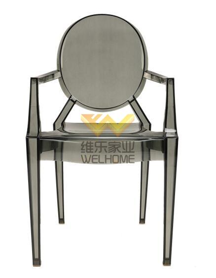 Smoke resin ghost chair for event/wedding