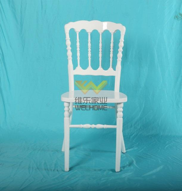 Cheap price wholesale White wooden banquet Napoleon wedding Chair for party/event