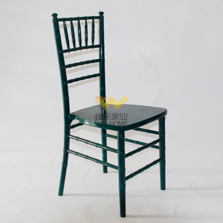Dark green solid wood chiavari chair for wedding/event
