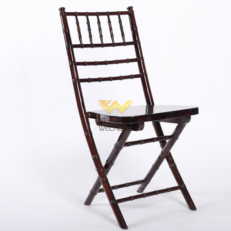 Mahogany Wooden chiavari folding chair for wedding/event