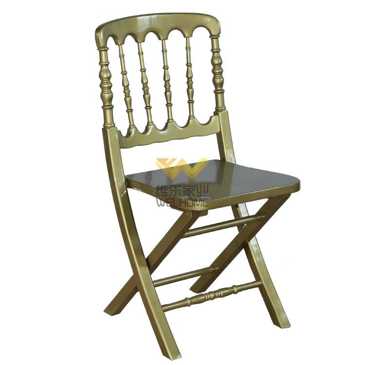 Gold wooden chateau folding chair for wedding/event
