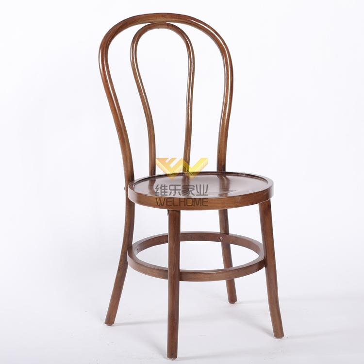 solid beech wood thonet dining chair for restaurant