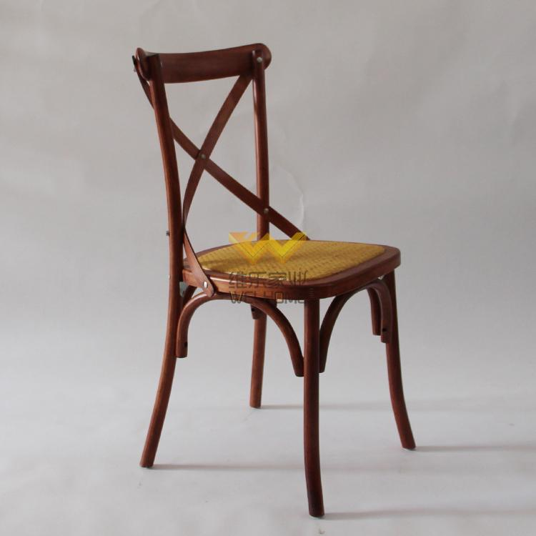 high quality antique oak wooden x back chair on sale