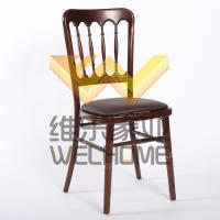 Mahogany solid wood chateau chair  with seat cushion for wedding/events