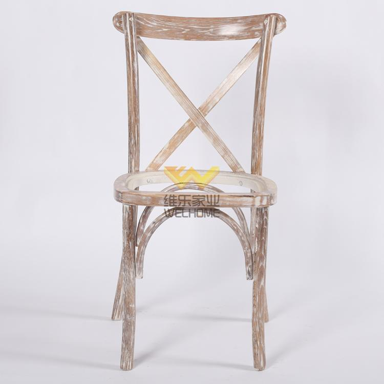 cheap solid oak wood x back chair wholesale