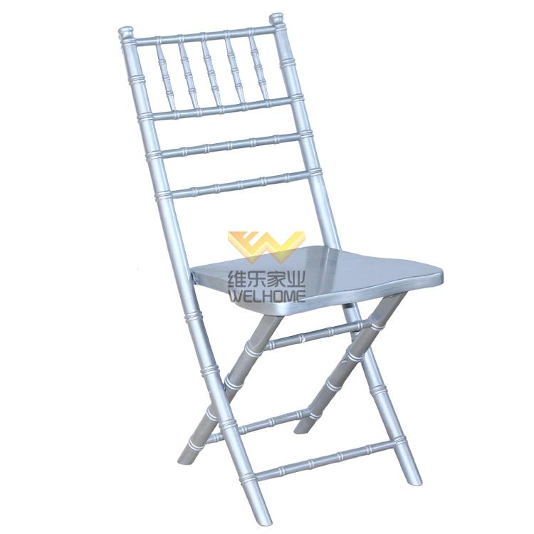 Silver wooden chiavari folding chair for wedding/event