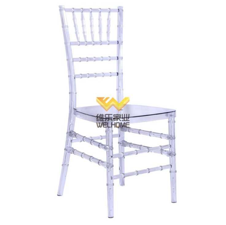 Wholesale stackable Cheap Transparent Acrylic clear Tiffany Chairs chiavari chairs for wedding/event