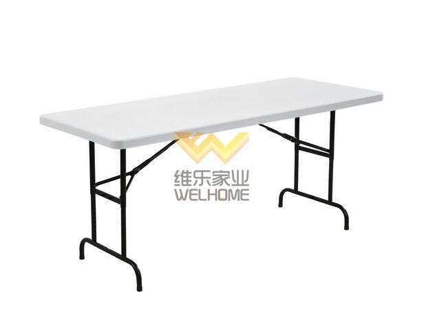 6FT Height adjustable party size Plastic Folding Table for event