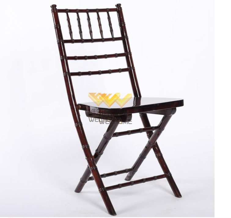 High quality solid wood folding chiavari wedding chair for rental