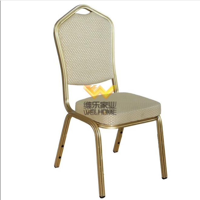 Top quality Gold metal banquet chair for event/wedding