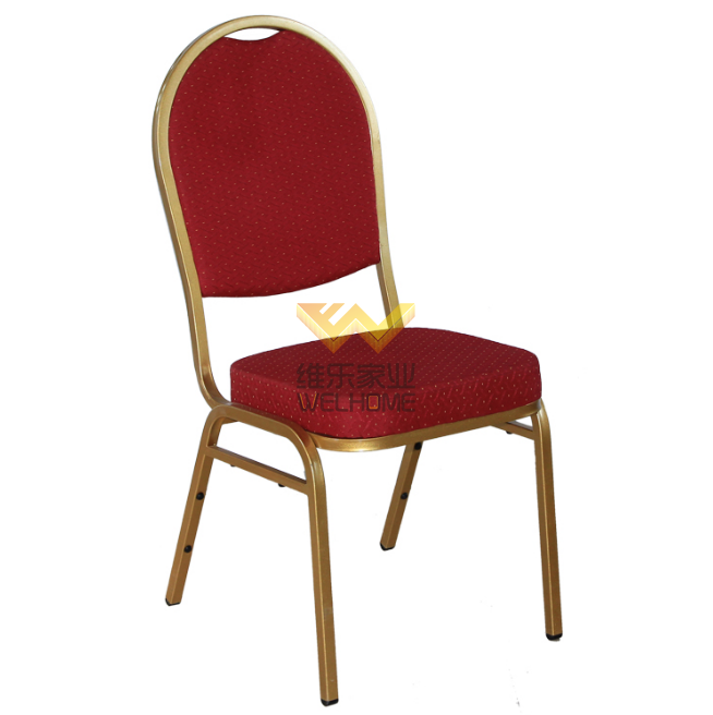 Popular Metal stackable banquet chair for wedding/events