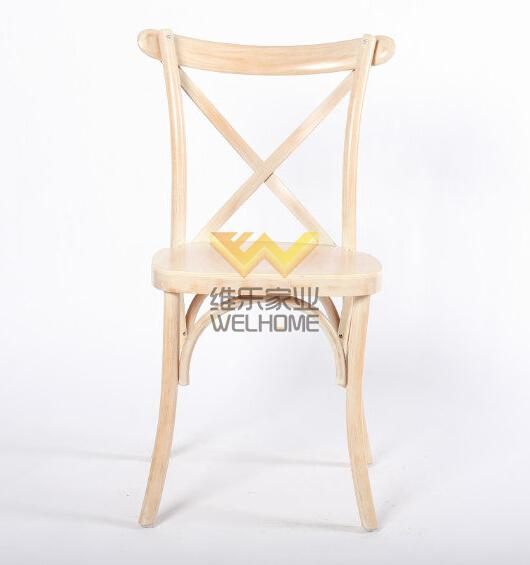 Limewash solid wood vineyard cross back chair for wedding/event
