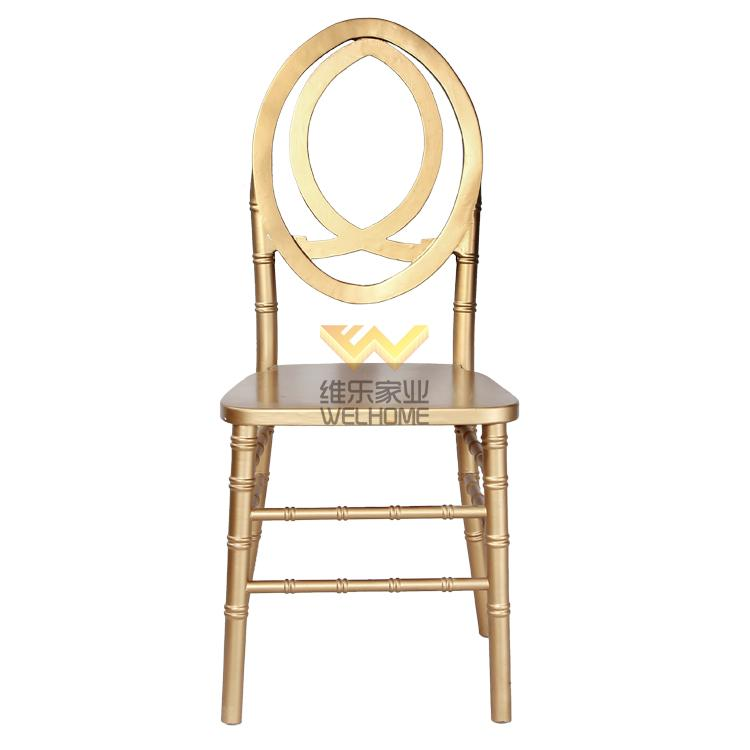 cheap gold color solid beech wood phoenix chair for wedding