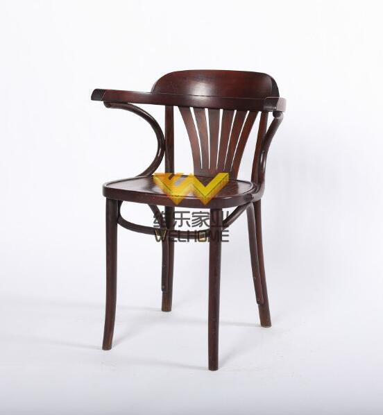 Claret bentwood dinning fan back arm chair