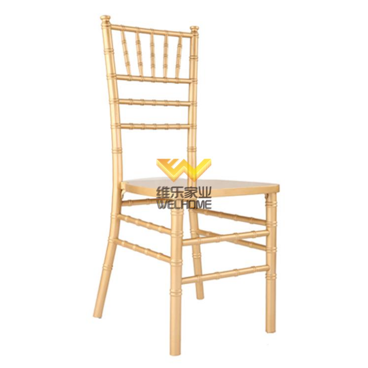 cheap gold color solid wood wedding tiffany chiavari chair