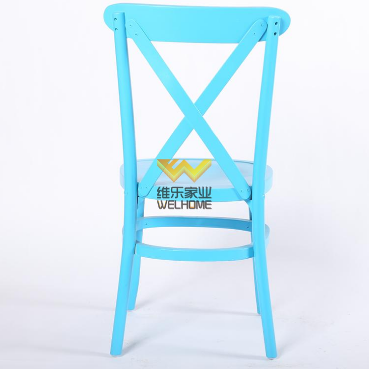 Solid oak wood cross back chair wholesale for wedding/events