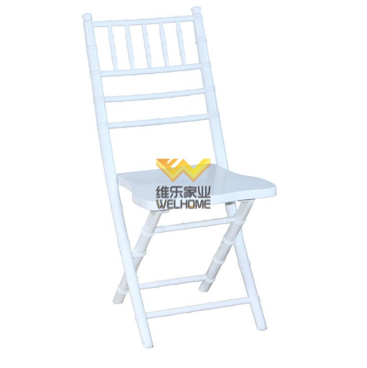 Light blue wooden chiavari folding chair for wedding/event