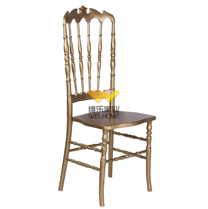 Gold solid wood Highback  Napoleon chair for wedding/event