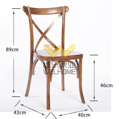 Natural color Crossback vineyard chair for wedding/event