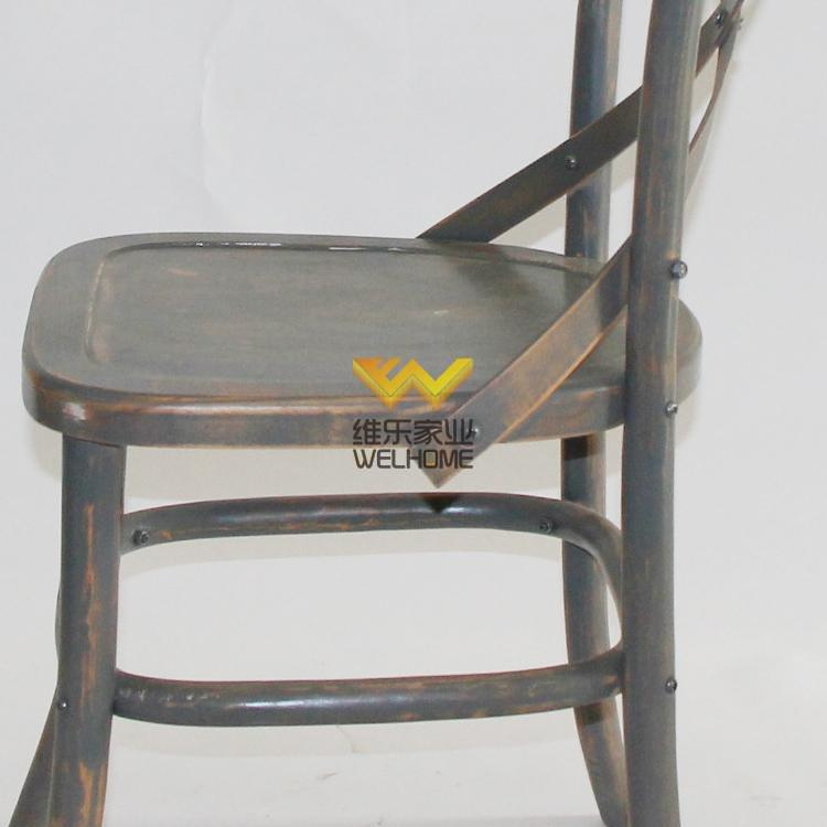 high quality antique solid oak cross back chair for wedding and event