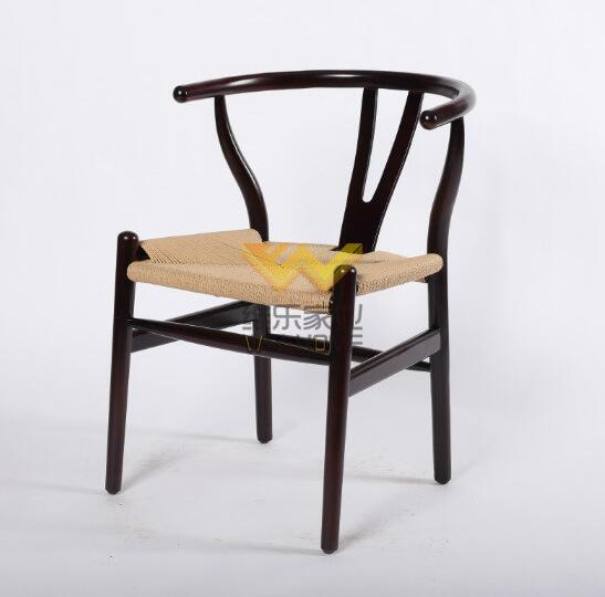 Black wood wishbone Y chair supplier