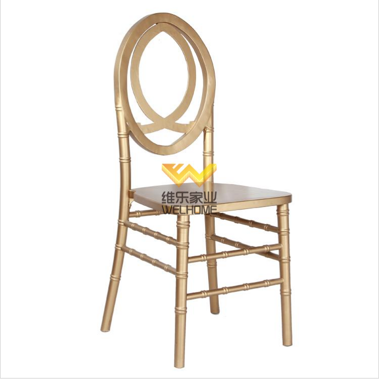 Golden wooden comfortable phoenix chair for event/wedding
