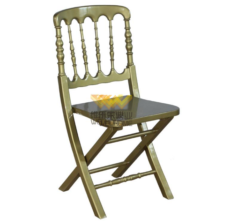 Gold wooden folding chateau chair for wedding/event