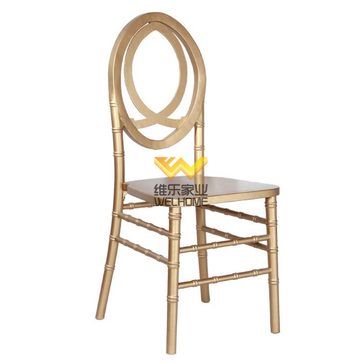 Golden wooden phoenix chair supplier