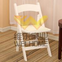 white solid wood folding chair for wedding and event F1009
