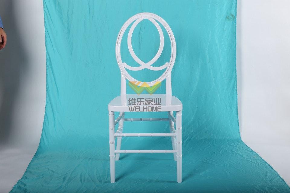event and hospitality use  white  plastic phoenix chair for hire