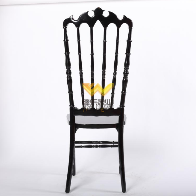 Solid wood Black Highback Napoleon chair for wedding/event