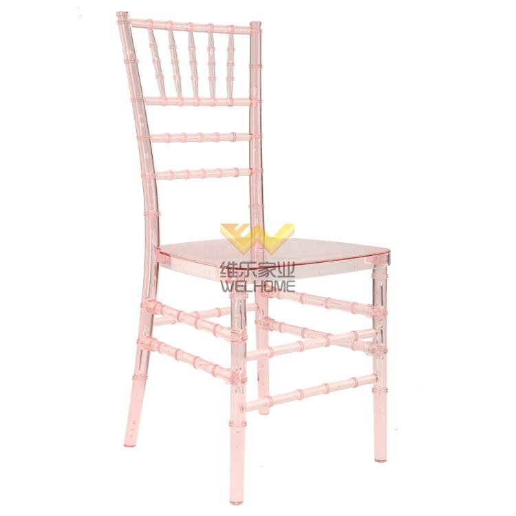 Pink Plastic Chiavari Chair for wedding/events