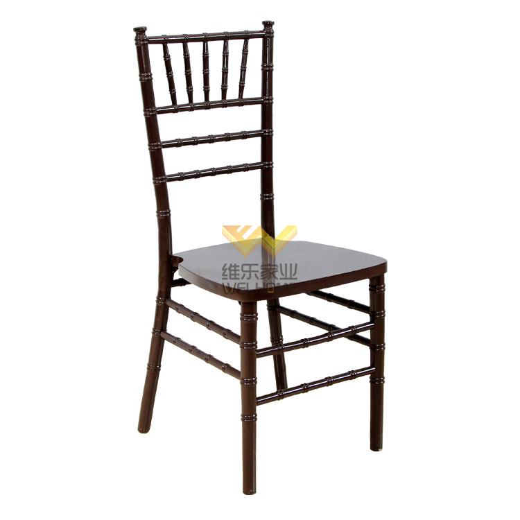 hotsale solid wood dark brown chiavari chair on sale