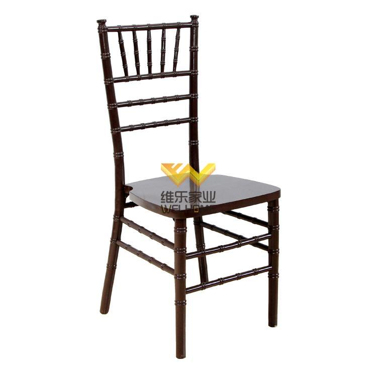 Wooden Dark Brown Stacking Chiavari Chair