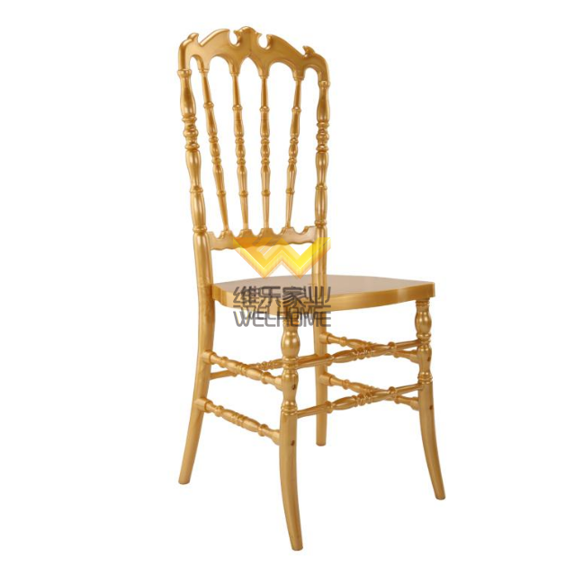 Gold Highback Resin Napoleon Chair for wedding/event