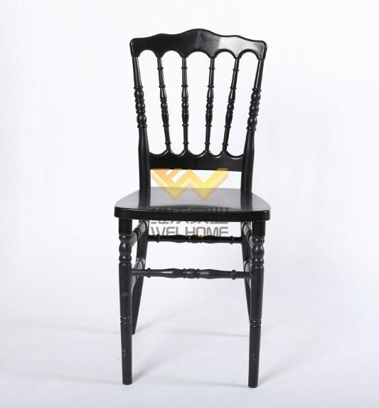 Black wooden napoleon chair for wedding/event