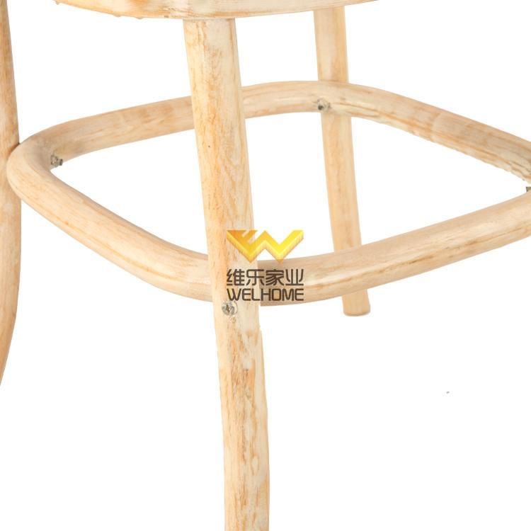 Oak wood x back chair for restaurant and wedding rental