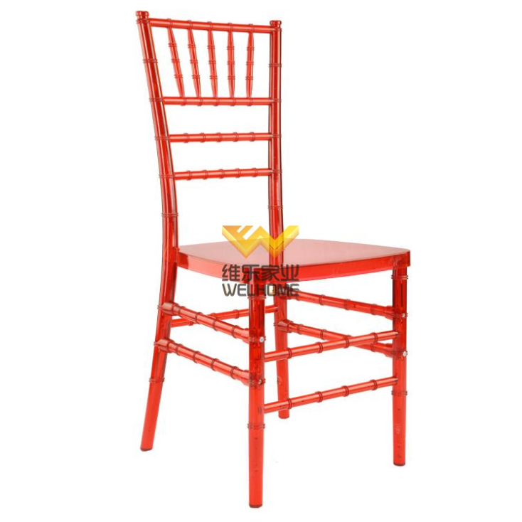 Red pc outdoor Chiavari chair for wedding/events