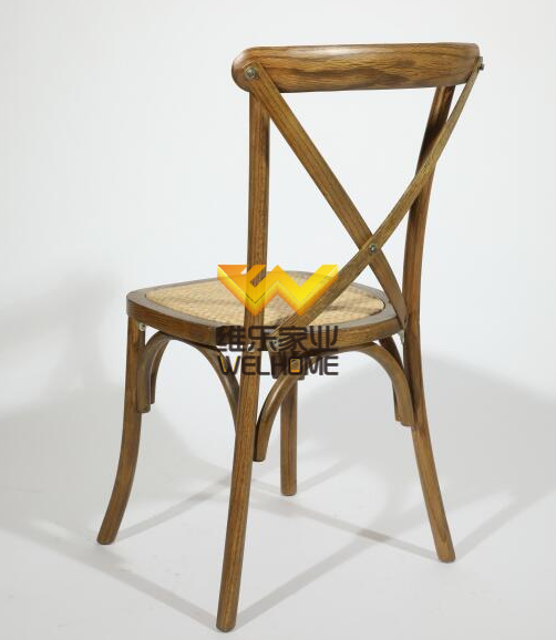 solid oak wooden cross back chair x back chair for wedding/event