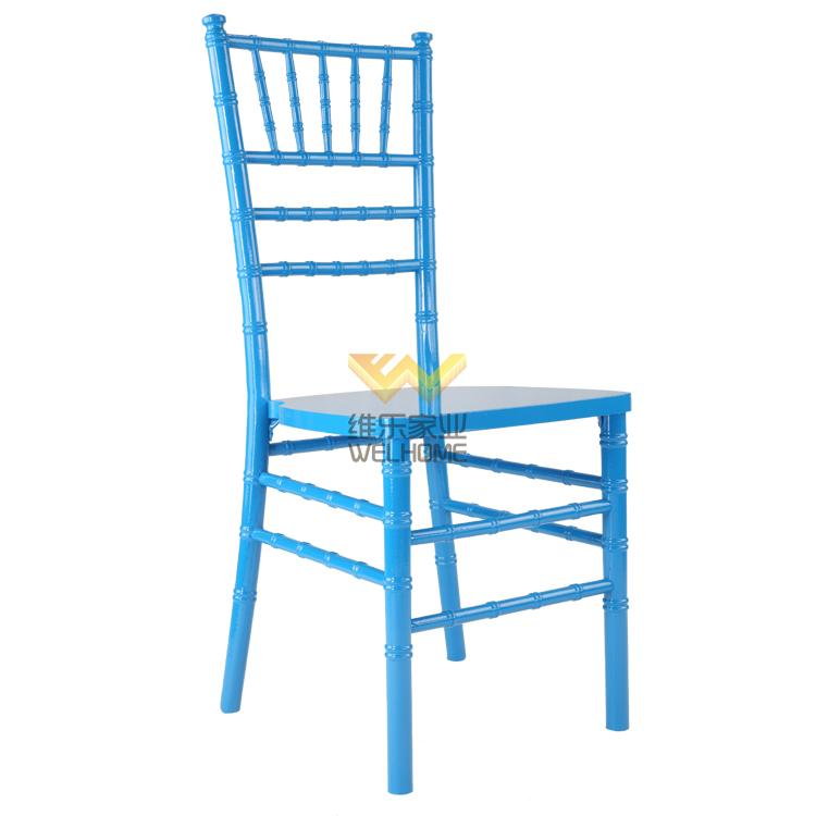 Blue wooden chiavari chair for wedding/events