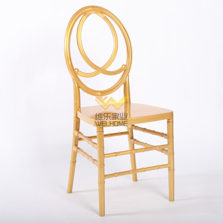Golden resin phoenix chair supplier