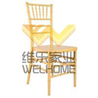 Yellow plastic wedding chair for wedding/events