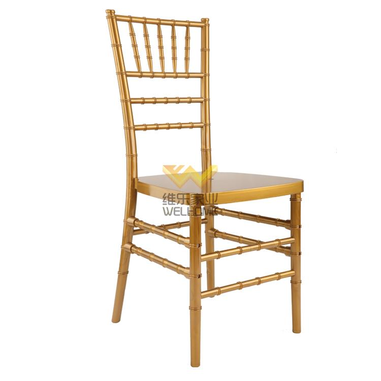 Golden Plastic tiffany chair For wedding/events