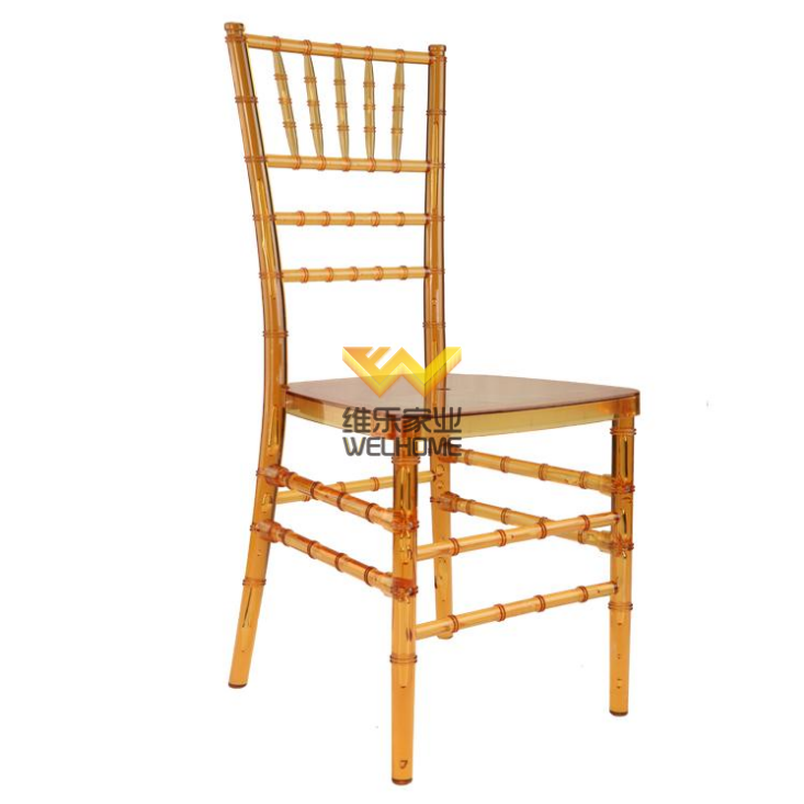 Orange Plastic tiffany chiavari chair for wedding/events