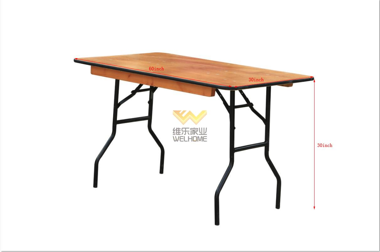 cheap hotsale wooden event table foldable table for event and hospitality